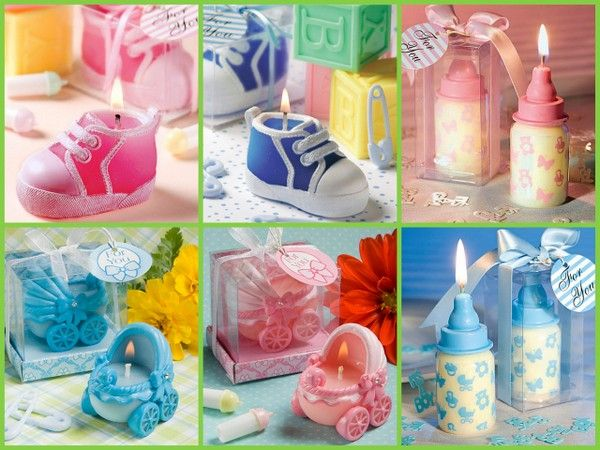 Baby Shower Candle Favors for a boy or girl
