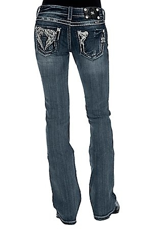 Miss Me Ladies Cream & Silver Wings w/ Crystals Boot Cut JeanCrystals Boots, Silver Wings, Justified Buy, Cut Jeans, Big Butt, Clothing Sho, Lady Cream Thy, Cream Silver, Boots Cut