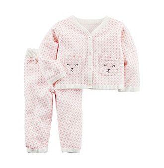 Carter's® Baby Girls' 2 Piece Little Sweater Set