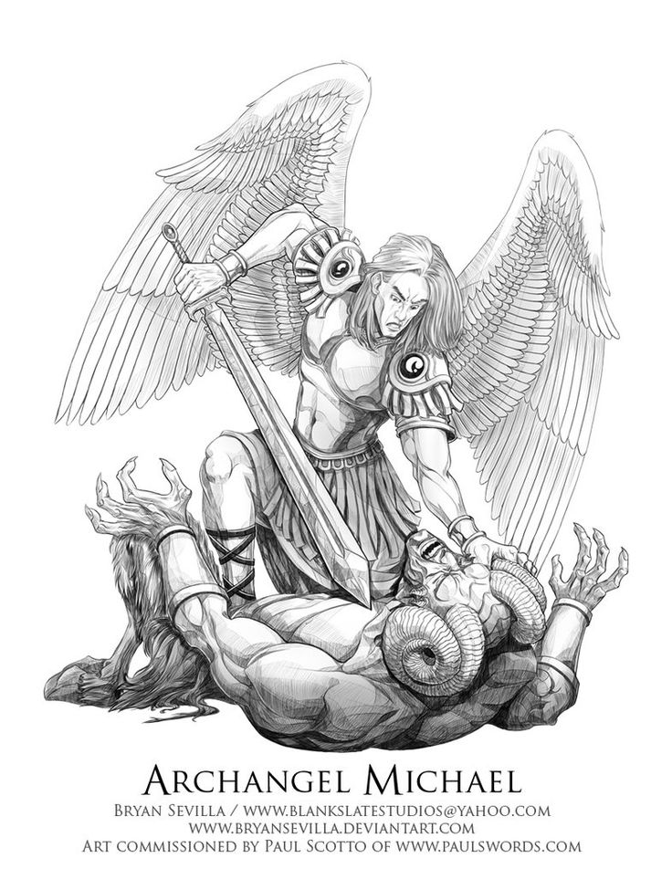 It's just an image of Smart St Michael The Archangel Drawing
