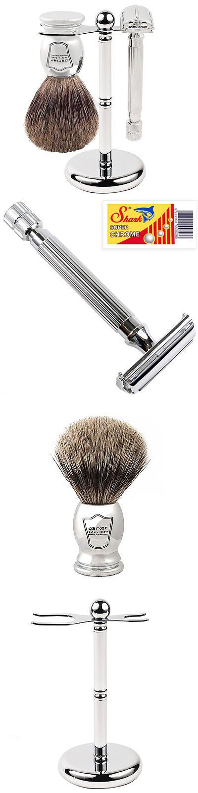 Shaving and Grooming Kits and Sets: Parker 82R Shave Set - Safety Razor, Stand And 100% Pure Badger Brush Included -> BUY IT NOW ONLY: $79.99 on eBay!