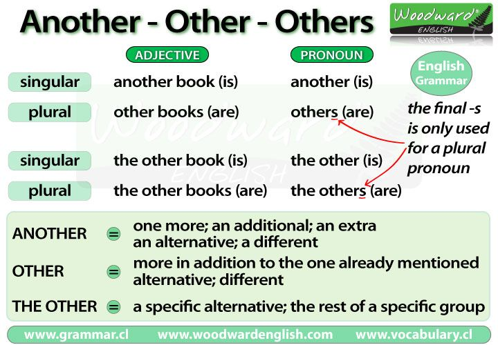 The difference between Another, Other and Others in English