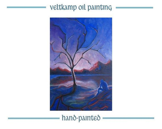 no shipping costs  landscape surreal oil by VeltkampOilPainting