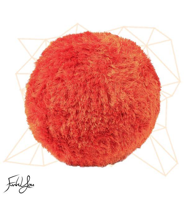 Fuzz Ottoman - Orange www.funkyou.com.au