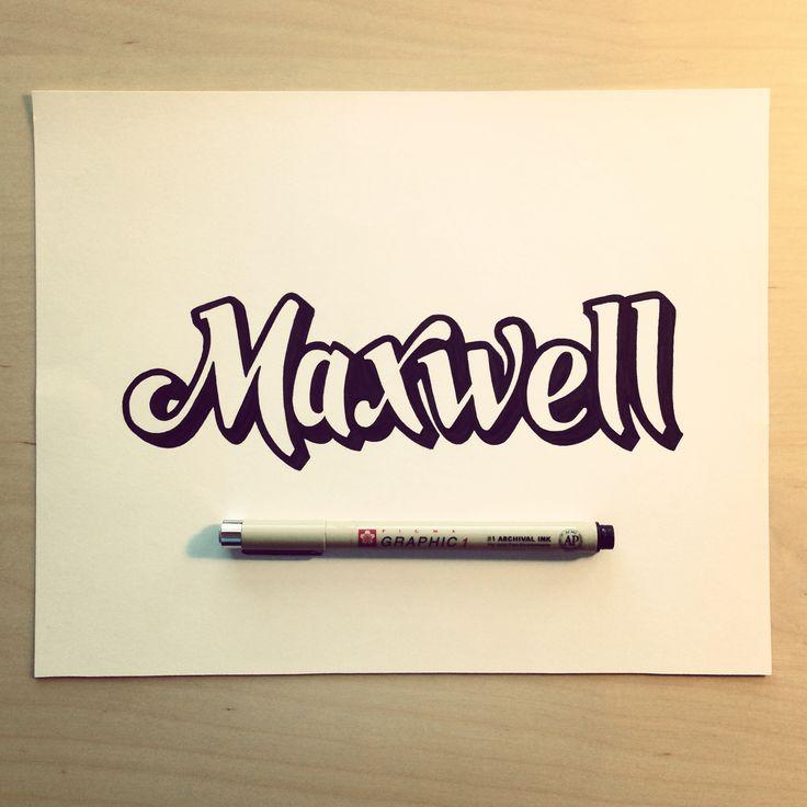 Maxwell    #lettering #3d #brush #script