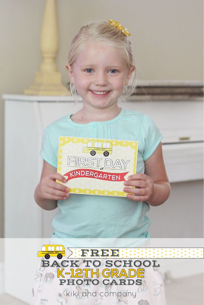 Printable Back to School Photo Signs for Kindergarten through 12th Grade! {Free Printable}