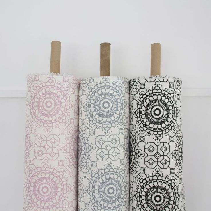 Elle Kay Fabrics Mosaic available in Rose Quartz; Graphite and Black