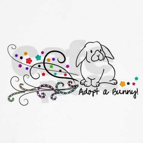 Adopt a Bunny Swirls Shirt on CafePress.com