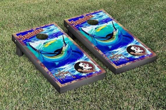 SALE-Florida State Seminoles Guy Harvey Cornhole by SkipsGarage
