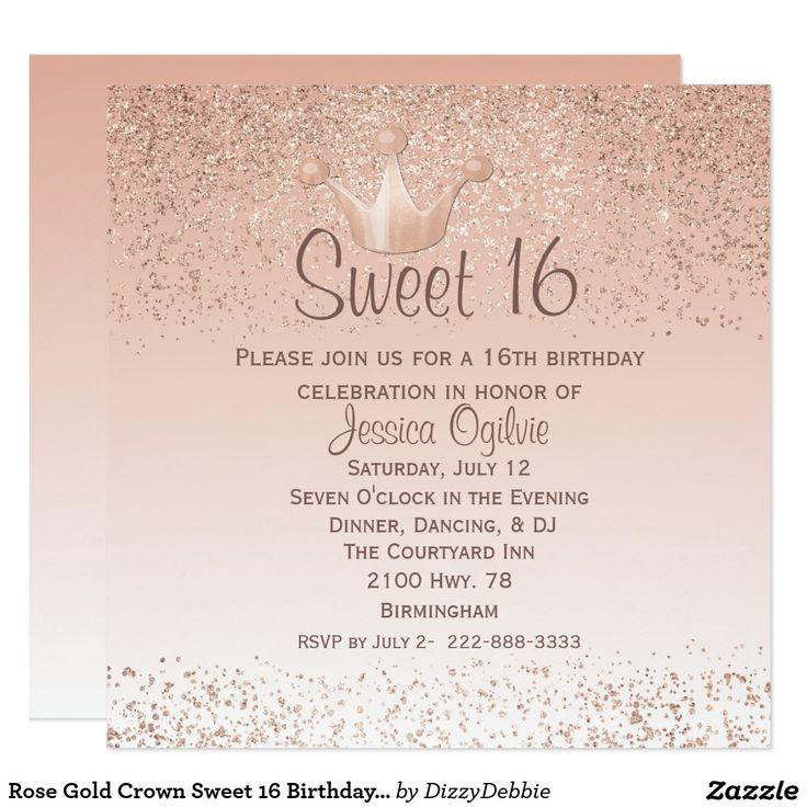 417 Best Teens 13 17 Birthday Invitations Images On Pinterest