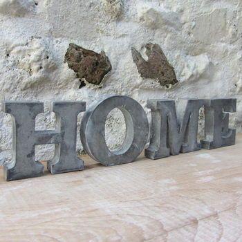 zinc letters by horsfall & wright | notonthehighstreet.com