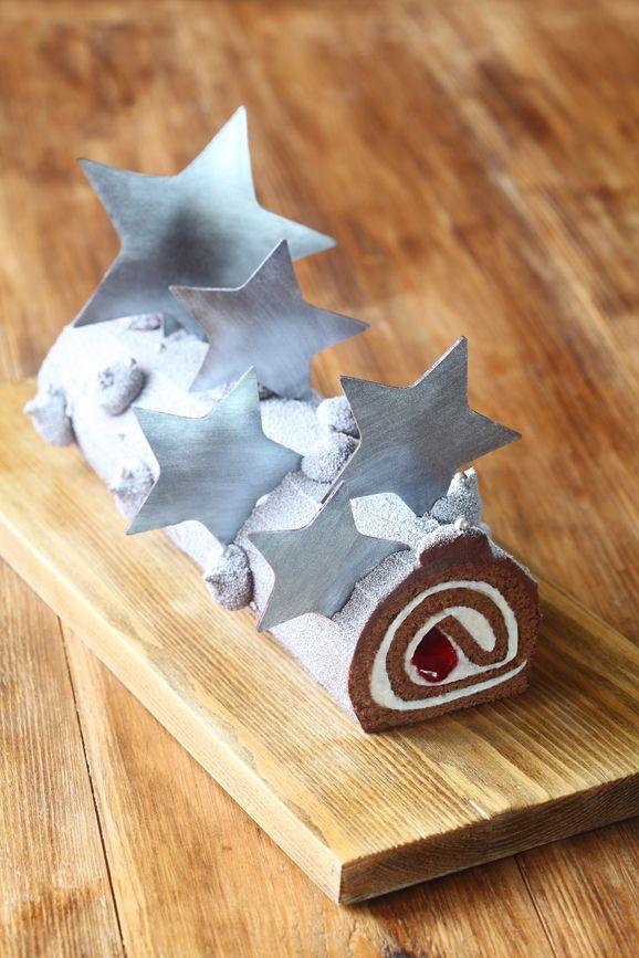 Verdade de sabor: Шоколадный рулет с розмарином и красной смородиной...