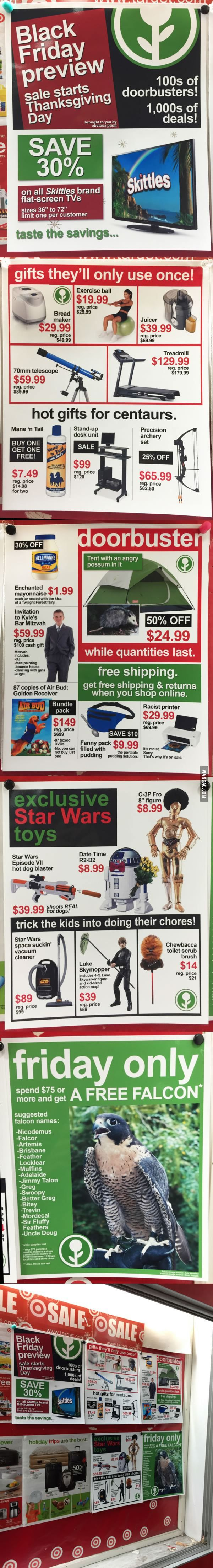 This Guy Added Fake Black Friday Deals To This Store's Weekly In-Store Flyer