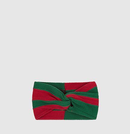 Gucci - fascia per capelli in cotone con nastro web 4149533G9393174