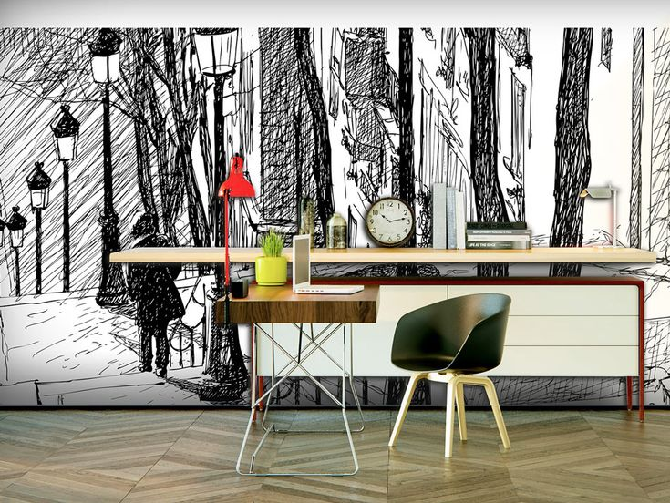 Bonjour! You can be in Paris everyday - just need enough stylish wall mural!