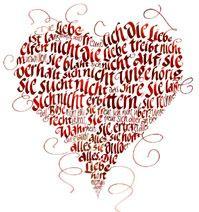 WUNDERBAR!!! Kalligrafie, Das hohe Lied der Liebe