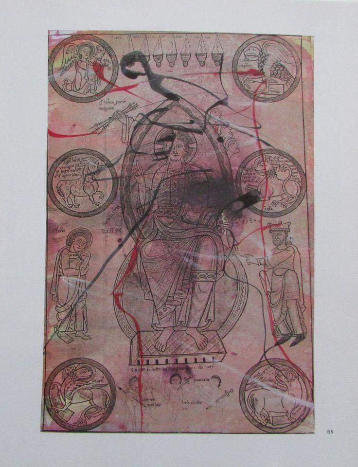Arnulf Rainer DER UNGENANNTE AUF DEM THRON Übermalung Kunstdruck art print | eBay