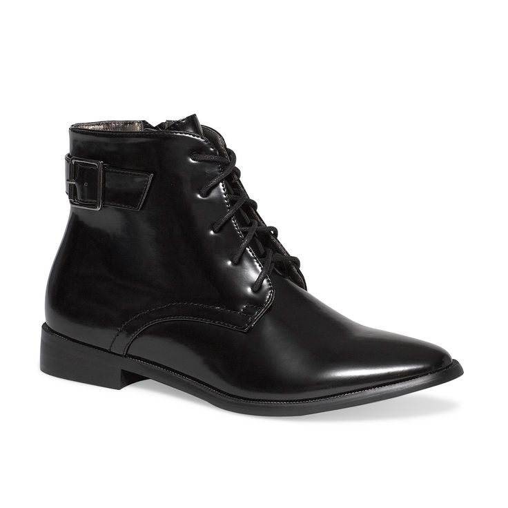 Bottines vernies talon plat