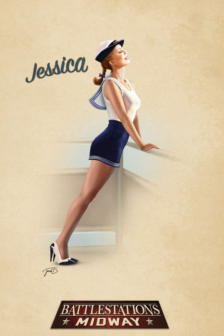 Battlestations Midway Jessica Lookout Pin Up Illustrations Pinterest Search