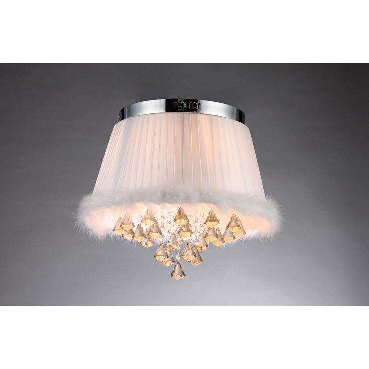 Lit with 11 incandescent bulbs and crafted with an eclectic mix of materials, this conversation-sparking pendant fixture boasts striking design with organic inspiration. The boa-trimmed shade and dangling crystals bring to mind a magical jellyfish.
