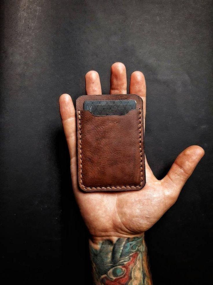Minimalist leather wallet/Credit card holder/Slim wallet/Minimalist Wallet/Minimalist Credit Card Wallet