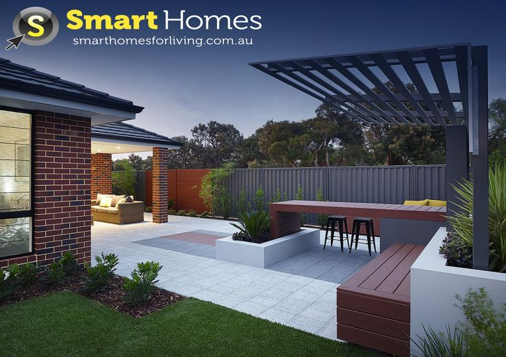 modern patio alfresco design with feature pergola  #patio #alfresco #smarthomesforliving