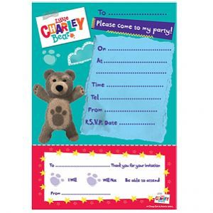 Invitations: Little Charley Bear Party Invitation Pad (20pk)