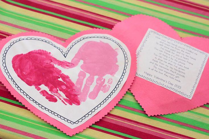 Mrs. Ricca's Kindergarten: Valentine's Day! Printable in Documents as Handprint Heart Template