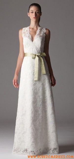 Robe de mariée 2012 dentelle avec ceinture