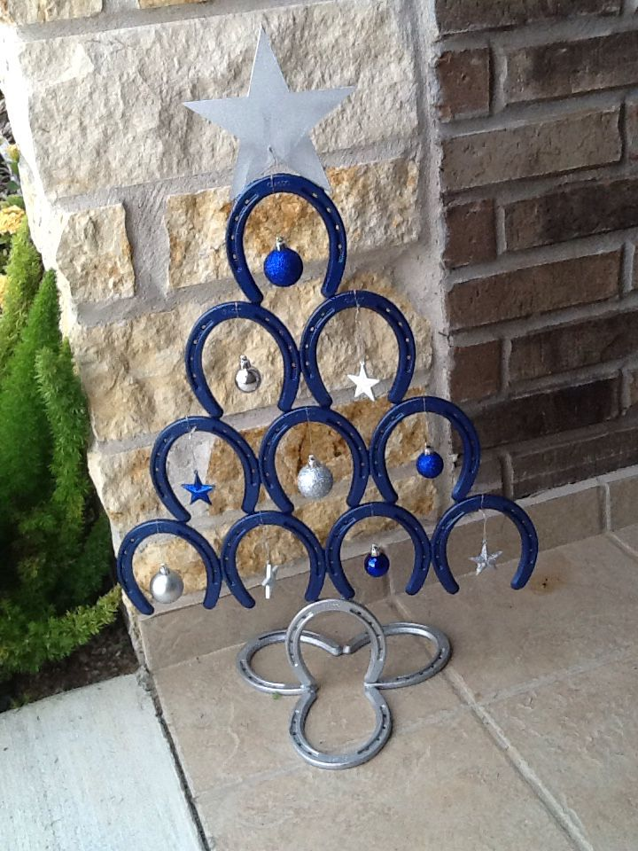 Horseshoe christmas tree projects we have done for Christmas tree made out of horseshoes