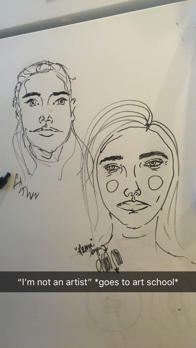 Portraits Drawn With Expo On Refrigerator Door With Expo Marker My