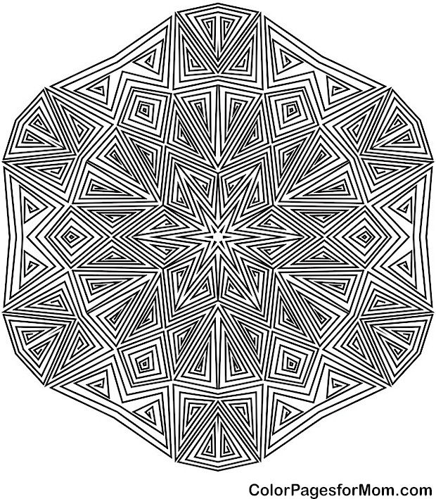 Geometric Coloring Pages Advanced : Best coloring images on pinterest books