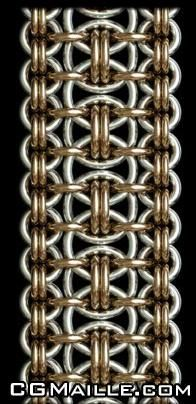 Ruffles chain maille weaves and patterns