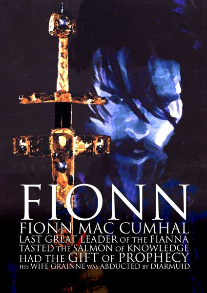 FIONN MAC CUMHAIL | Mythical hunter-warrior of Irish mythology, occurring also in the mythologies of Scotland and the Isle of Man. The stories of Fionn and his followers the Fianna, form the Fenian Cycle (or Fiannaidheacht), much of it purported to be narrated by Fionns son, the poet Oisdn.