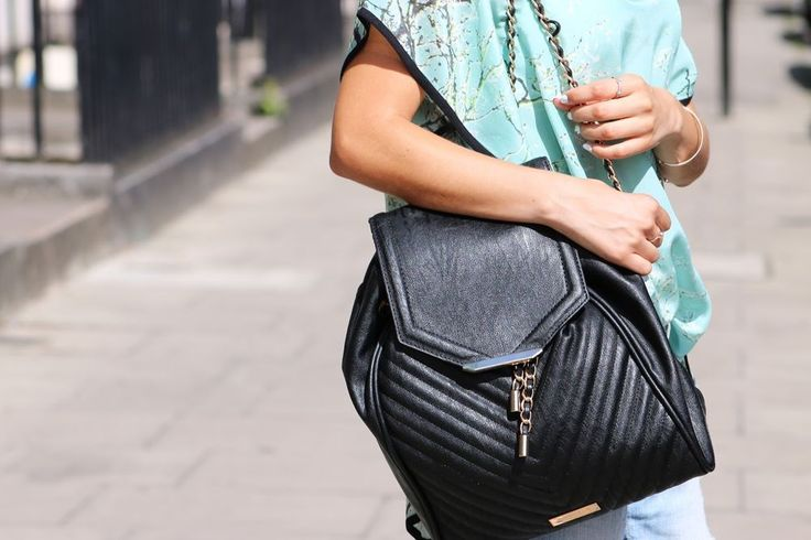 Carvela Quilted Backpack with Chain Detail Bloger Fashion   eBay