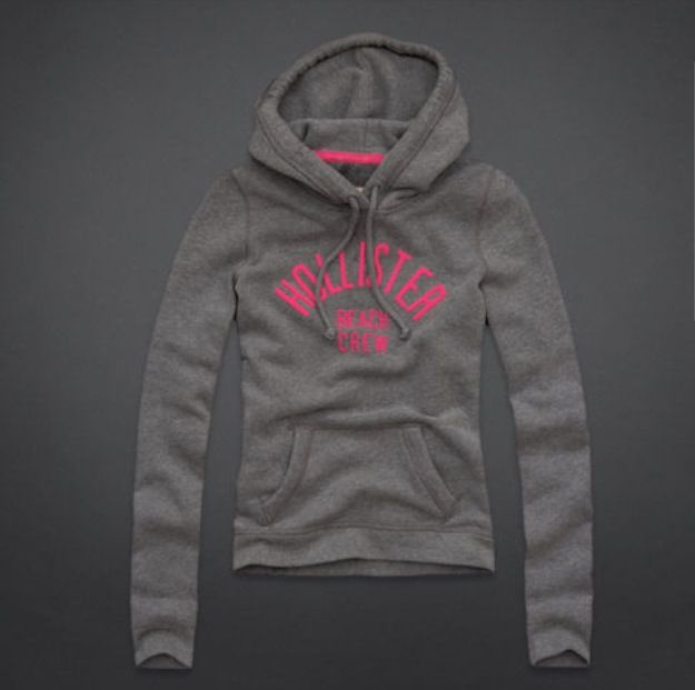 Grey and pink Hollister sweater.