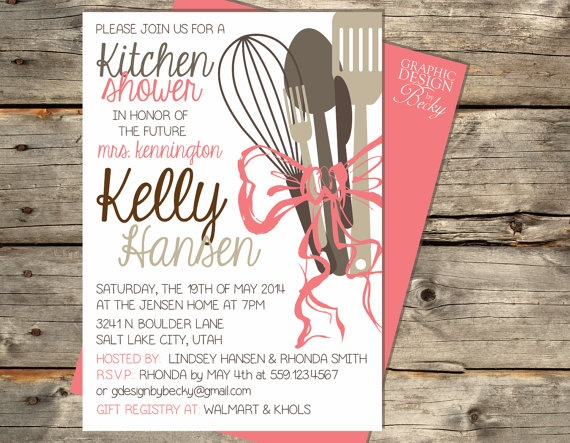 Kitchen Bow Bride A Printable Kitchen By GraphicDesignbyBecky, $18.00 · Kitchen  ShowerBridal Shower InvitationsInvitation DesignBridal ...