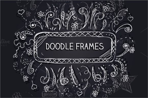 Check out Doodle frames sale - only 6$ by IlirisDesign on Creative Market