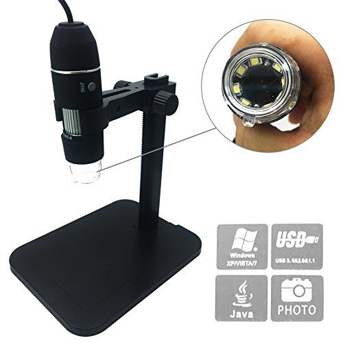 Digital Microscope, soled Portable USB Digital Microscope Mini Microscope Camera, 8 LED 2MP USB 3D Digital Zoom Microscope Endoscope Magnifier PC Video Camera(1000x)  ★ Portable 2.0MP USB digital microscope/ USB microscope High-speed DSP White Light 8pcs LED magnifier; Operation System: Windows XP/VISTA/WIN 7/8/10 32 Bites & 64 Bites (Not Mac system)★ USB digital microscope stand, 5mp 200x 300x 400x 500x 600x 800x 1000x microscope,8 led USB digital microscope endoscope with Stand, m..