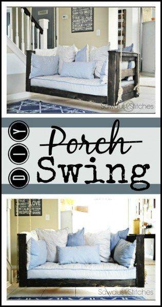 Crib Mattress Porch Swing with BUILD PLANS