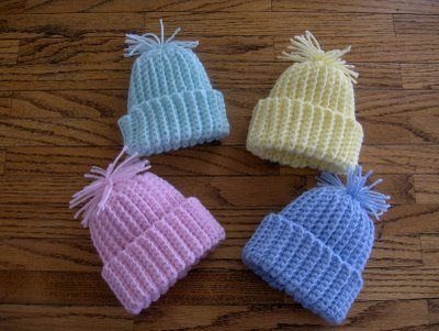 Crochet Baby Stocking Cap Pattern Free