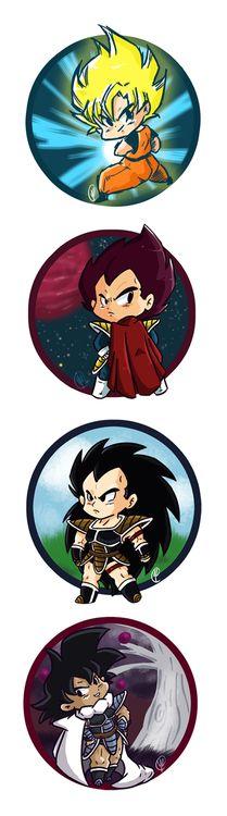 DBZ Goku, Vegeta, Raditz and Taurus