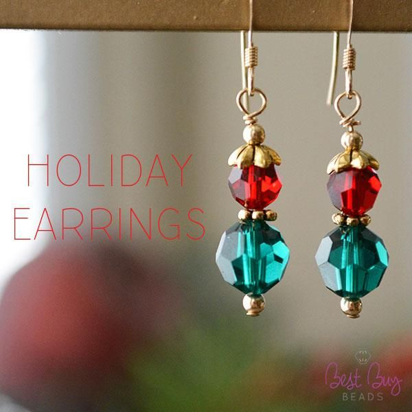 Beautiful earrings for the holidays!