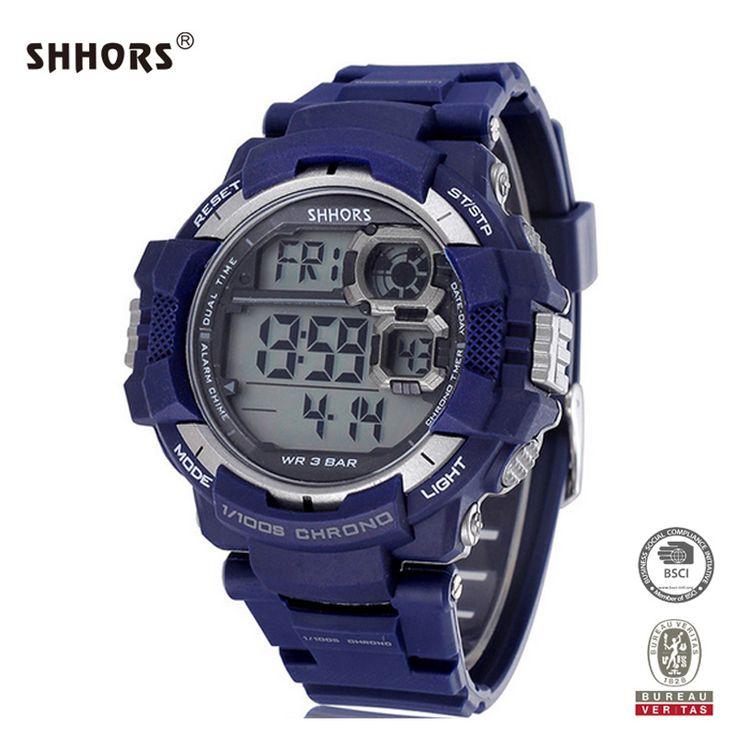 Shhors reloj Sports Watch 30m Waterproof Outdoor Digital Watch Swimming Diving Wristwatch reloj hombre marca de lujo #Affiliate