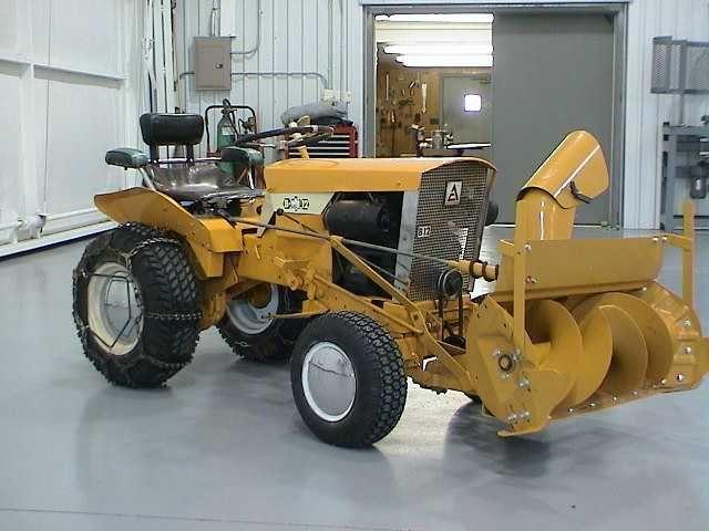 Allis Chalmers B12 Garden Tractor W Snow Blower Attachment Tractors Garden Tractor Simplicity Tractors