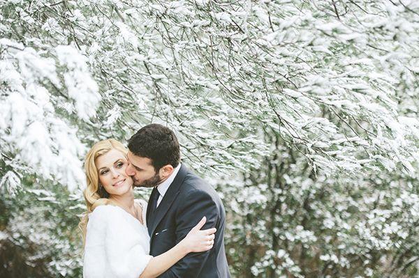 Winter wonderland wedding inspiration | Vasiliki & Nikos - Love4Wed