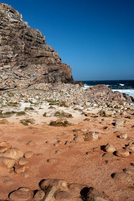A rocky Cape Point coastline lets you get down to the waters of the Indian and Pacific Oceans.