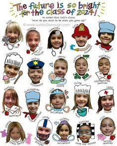 """I LOVE this idea of having the Kindergardeners say what they want to be when they grow up! I think parents would love that. We could say like """"We fight for the Future"""" and have like the kids captions say """"I fight to be a doctor"""" """"I fight to be a football player"""" Etc."""