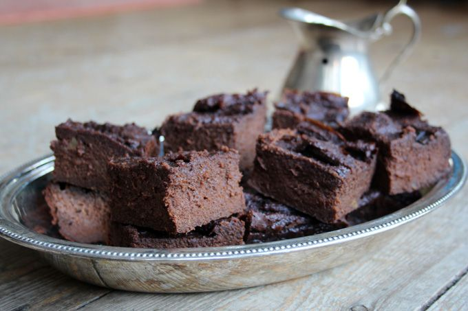 Brownies with no added sugar that also feature a vegetable? Here they are: Gooey, moist, chocolatey, superbly satisfying Sweet Potato Brownies.