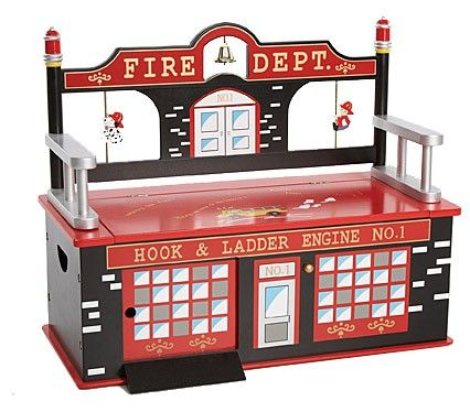 Rosenberry Rooms has everything imaginable for your child's room! Share the news and get $20 Off  your purchase! (*Minimum purchase required.) Firefighter+Toy+Box+Bench